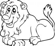 Coloriage et dessins gratuit Lion 21 à imprimer