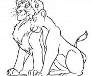 Coloriage Lion 26
