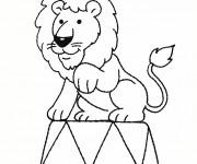 Coloriage dessin  Lion 3