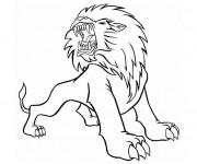 Coloriage Lion 32