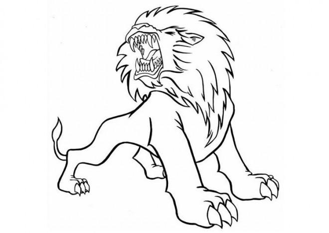Coloriage et dessins gratuits Lion 32 à imprimer