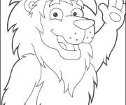 Coloriage Lion 34