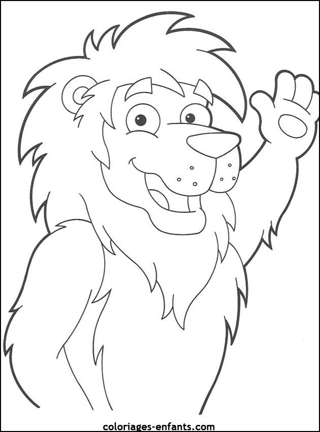 Coloriage et dessins gratuits Lion 34 à imprimer