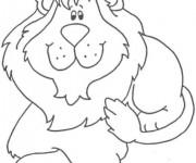 Coloriage Lion 35