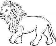 Coloriage Lion 36