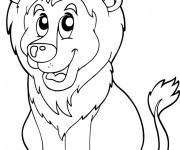 Coloriage Lion 37
