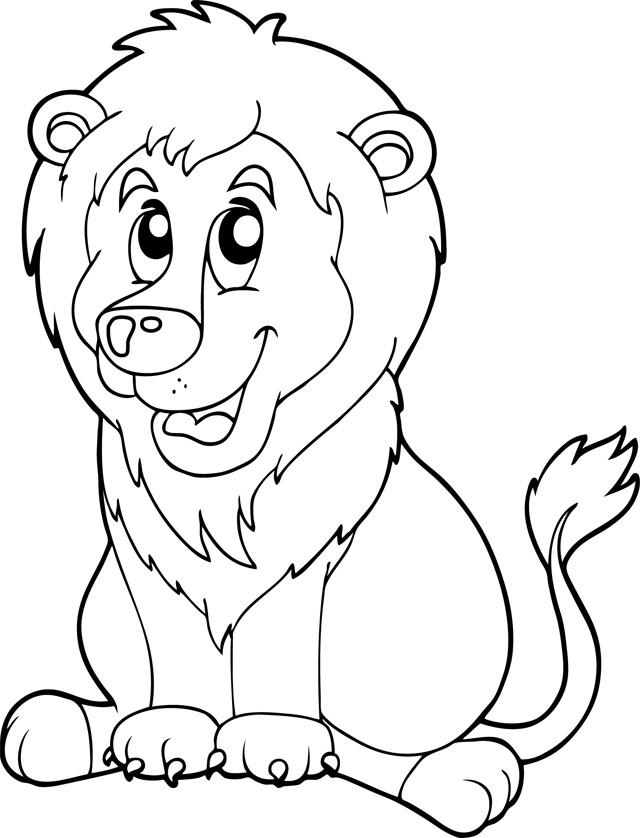Coloriage et dessins gratuits Lion 37 à imprimer