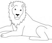 Coloriage Lion 38