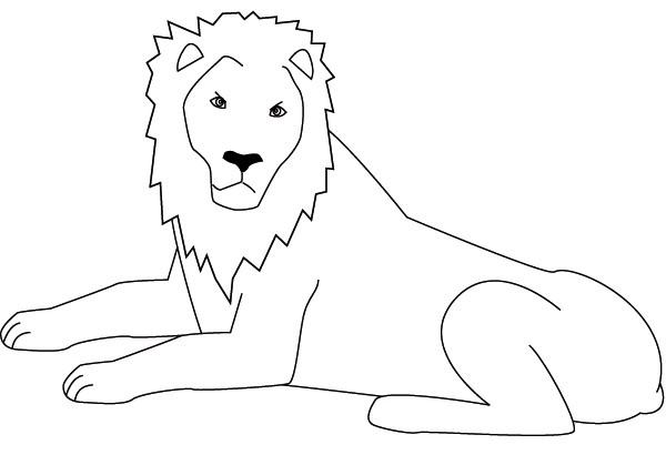 Coloriage et dessins gratuits Lion 38 à imprimer