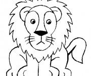 Coloriage et dessins gratuit Lion 4 à imprimer