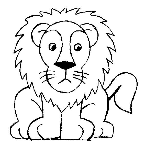 coloriage lion à imprimer