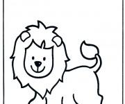 Coloriage Lion 40