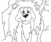 Coloriage Lion 44