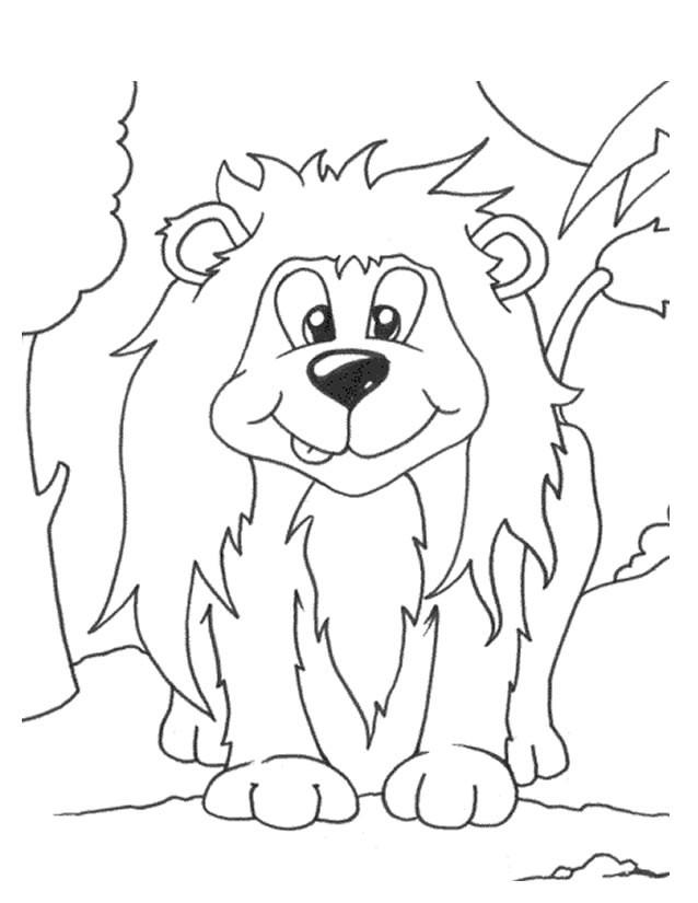 Coloriage et dessins gratuits Lion 44 à imprimer