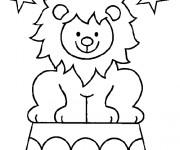 Coloriage Lion 45
