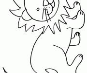 Coloriage Lion 46