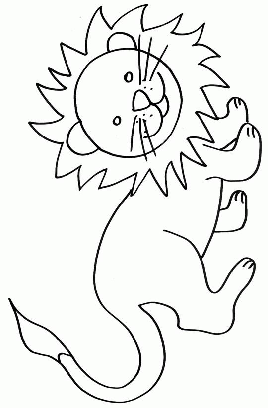 Coloriage et dessins gratuits Lion 46 à imprimer