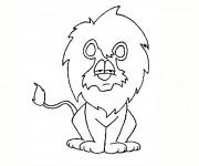 Coloriage Lion 48