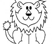 Coloriage et dessins gratuit Lion 5 à imprimer