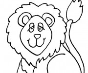Coloriage Lion 7