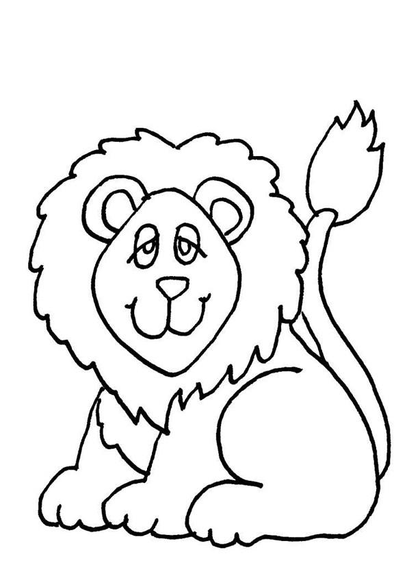 Coloriage et dessins gratuits Lion 7 à imprimer