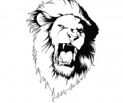 Coloriage Lion 9