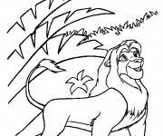 Coloriage Simba adulte