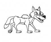 Coloriage et dessins gratuit Loup 10 à imprimer
