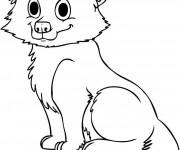 Coloriage et dessins gratuit Loup 12 à imprimer