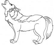 Coloriage et dessins gratuit Loup 13 à imprimer