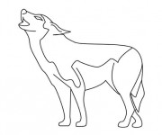 Coloriage et dessins gratuit Loup 17 à imprimer