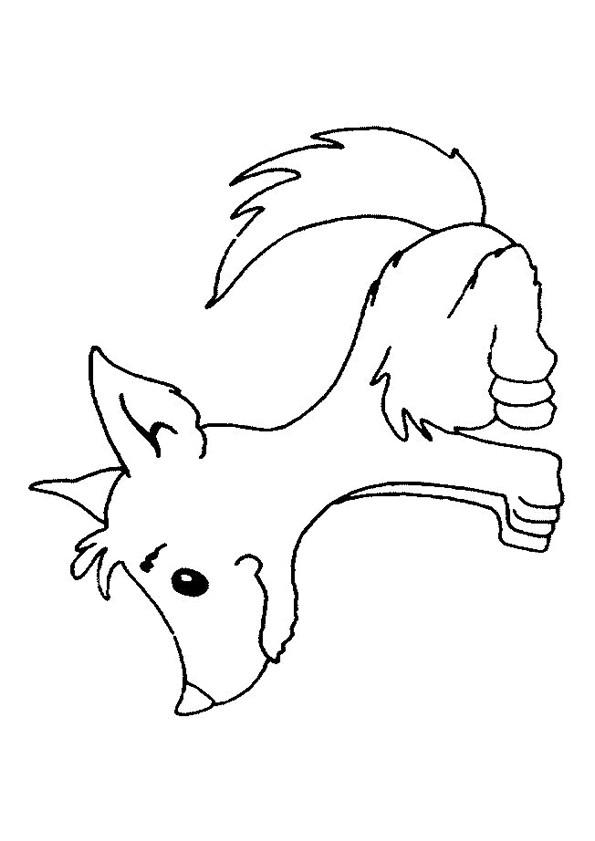 Coloriage et dessins gratuits Loup 18 à imprimer