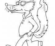 Coloriage et dessins gratuit Loup 4 à imprimer