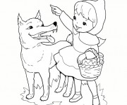Coloriage et dessins gratuit Loup 6 à imprimer