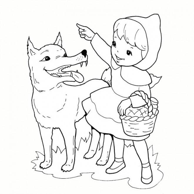 Coloriage et dessins gratuits Loup 6 à imprimer