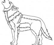 Coloriage et dessins gratuit Loup 8 à imprimer