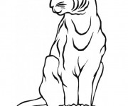 Coloriage dessin  Lynx 2