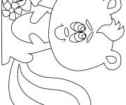 Coloriage dessin  Moufette 2