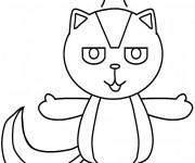 Coloriage et dessins gratuit Moufette couleur à imprimer
