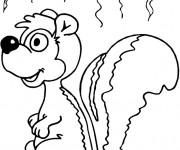 Coloriage et dessins gratuit Moufette et son odeur à imprimer