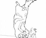 Coloriage et dessins gratuit Moufette humoristique à imprimer