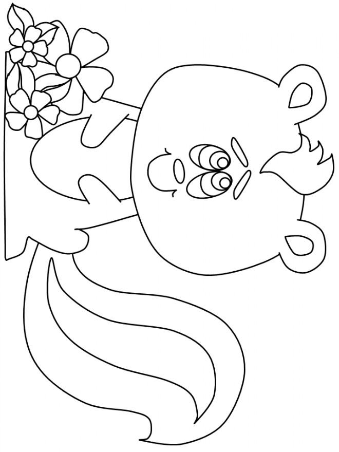 Coloriage et dessins gratuits Moufette mignonne à imprimer