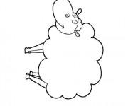 Coloriage dessin  Mouton 19
