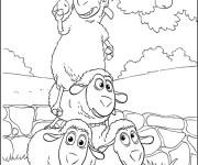 Coloriage dessin  Mouton 7