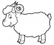 Coloriage Mouton avec cornes