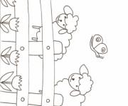 Coloriage Mouton dans la ferme