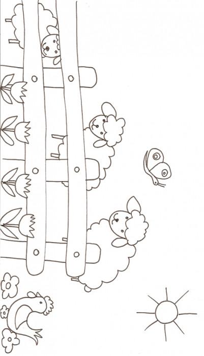 Coloriage et dessins gratuits Mouton dans la ferme à imprimer