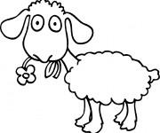 Coloriage Mouton  drôle