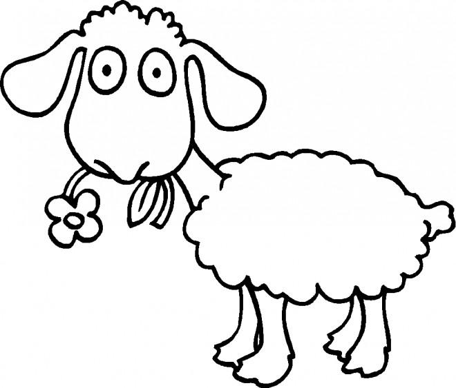 Coloriage et dessins gratuits Mouton  drôle à imprimer