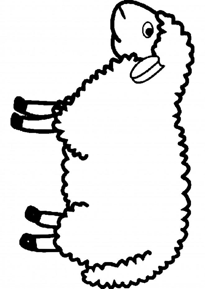 Coloriage mouton pour enfant dessin gratuit imprimer - Mouton a dessiner ...
